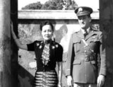 Soong May-ling or Soong Mei-ling, also known as Madame Chiang Kai-shek (traditional Chinese: 宋美齡; simplified Chinese: 宋美龄; pinyin: Sòng Měilíng; March 5, 1898 – October 23, 2003) was a First Lady of the Republic of China (ROC), the wife of former President Chiang Kai-shek (蔣中正 / 蔣介石).<br/><br/>  Lieutenant General Claire Lee Chennault (September 6, 1893 – July 27, 1958), was an American military aviator. A contentious officer, he was a fierce advocate of fight-interceptor aircraft during the 1930s when the U.S. Army Air Corps was focused primarily on high-altitude bombardment. Chennault retired in 1937, went to work as an aviation trainer and adviser in China, and commanded the 'Flying Tigers' during World War II, both the volunteer group and the uniformed units that replaced it in 1942.